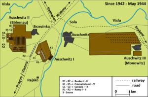 Mapa Osvětim 1942